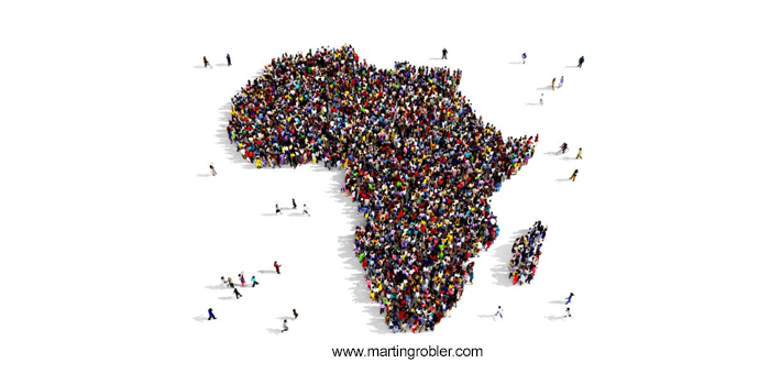 Africa with people image