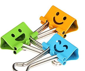 A picture of binder clips