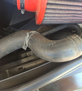 Picture of broken radiator pipe