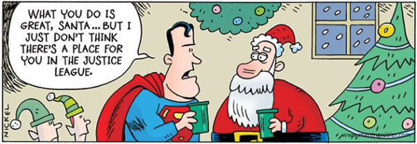 A comic of Superman & Father Christmas