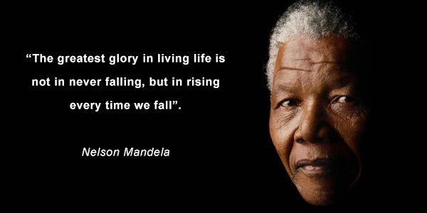 A quote picture of Mandela