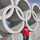 A picture of Martin at the Olympics in China