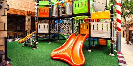 An image of the kids play area